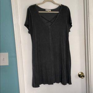 Umgee gray tunic dress
